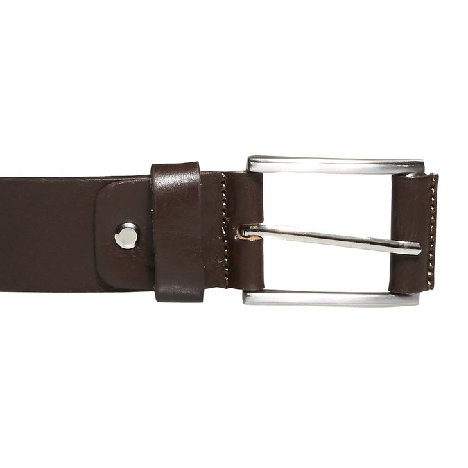 Classical leather belt bata, brown , 954-4833 - 26