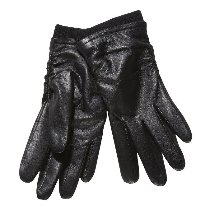 Ladies' leather gloves bata, black , 904-6107 - 13