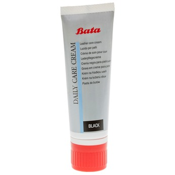 Leather shoe cream bata, black , 990-6806 - 13