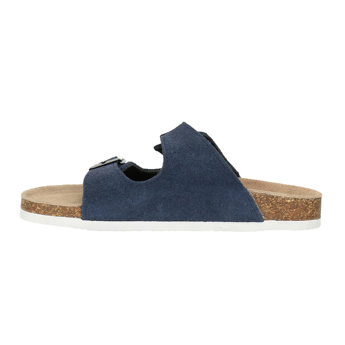 Children's blue slippers de-fonseca, blue , 373-9600 - 26