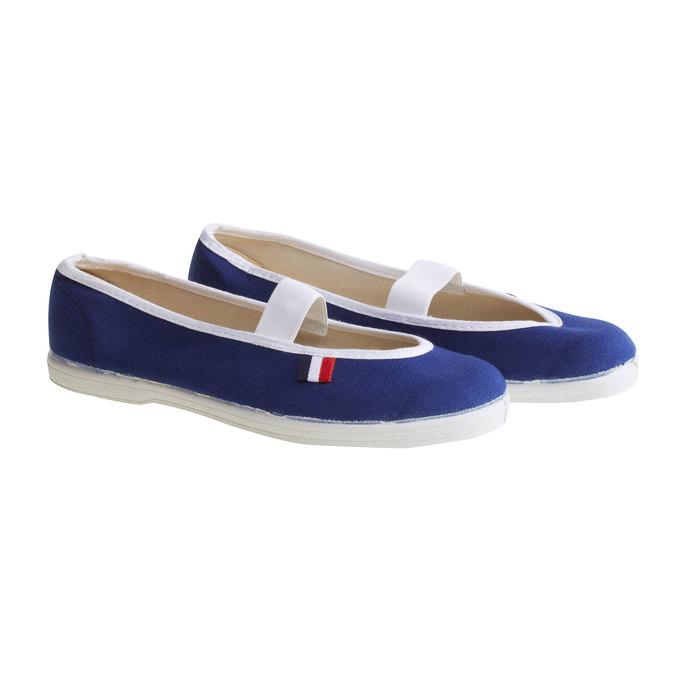 Kids' gym shoes bata, blue , 379-9100 - 26