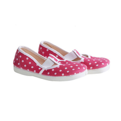 Kids' gym shoes with dots, pink , 279-5102 - 26