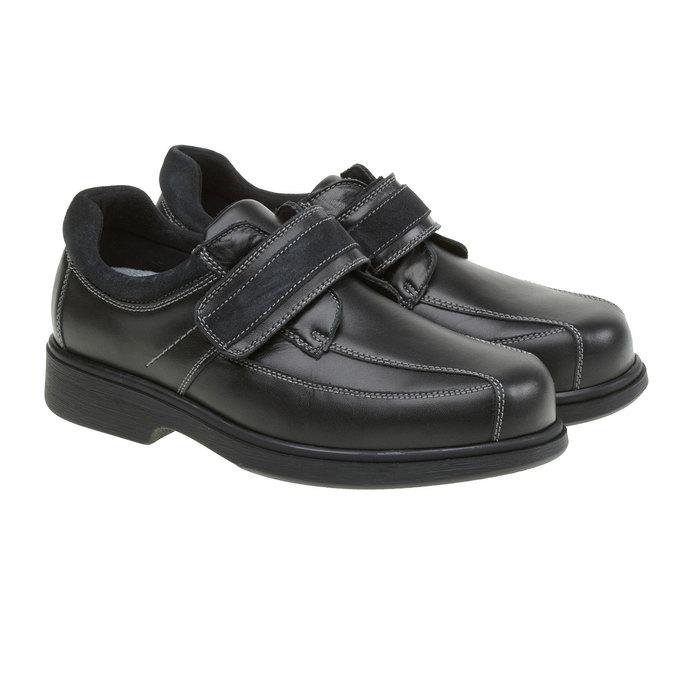 Leather Sneakers bata, black , 834-6001 - 26