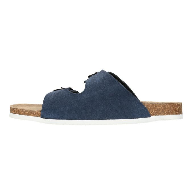 Men's leather slippers de-fonseca, blue , 873-9610 - 26