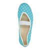Blue gym shoes with polka dots bata, blue , 379-9103 - 19