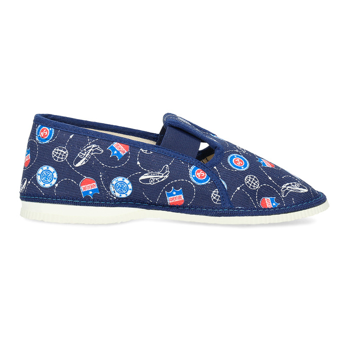 Children's slippers bata, blue , 379-9012 - 19