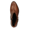 Leather ankle boots with a buckle bata, brown , 594-4602 - 19