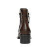Leather ankle boots with zippers bata, brown , 694-4600 - 17