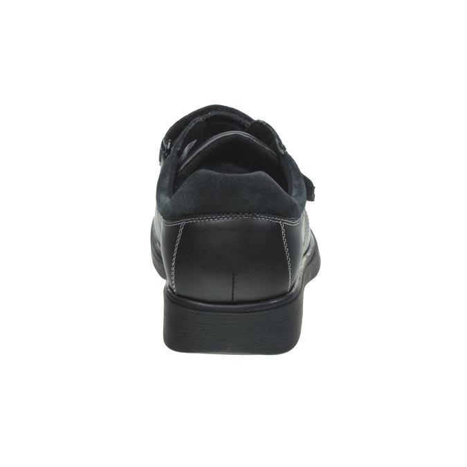 Leather Sneakers bata, black , 834-6001 - 17
