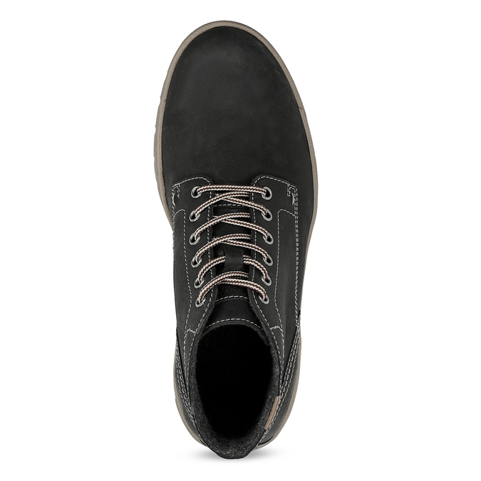 Men's leather winter boots weinbrenner, black , 896-6107 - 17