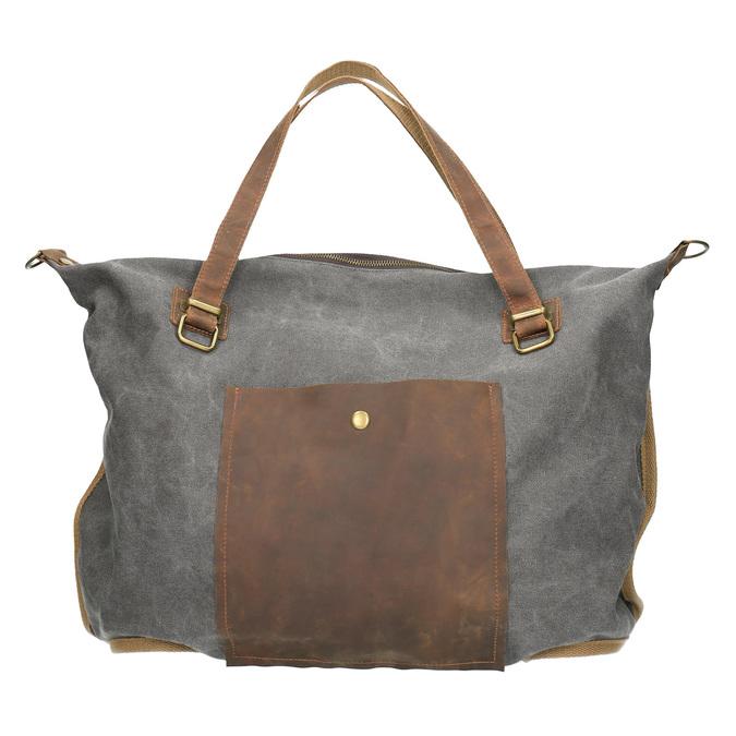 Big bag with strap weinbrenner, gray , 969-2620 - 19