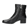 Leather low-heel ankle boots bata, black , 694-6630 - 26