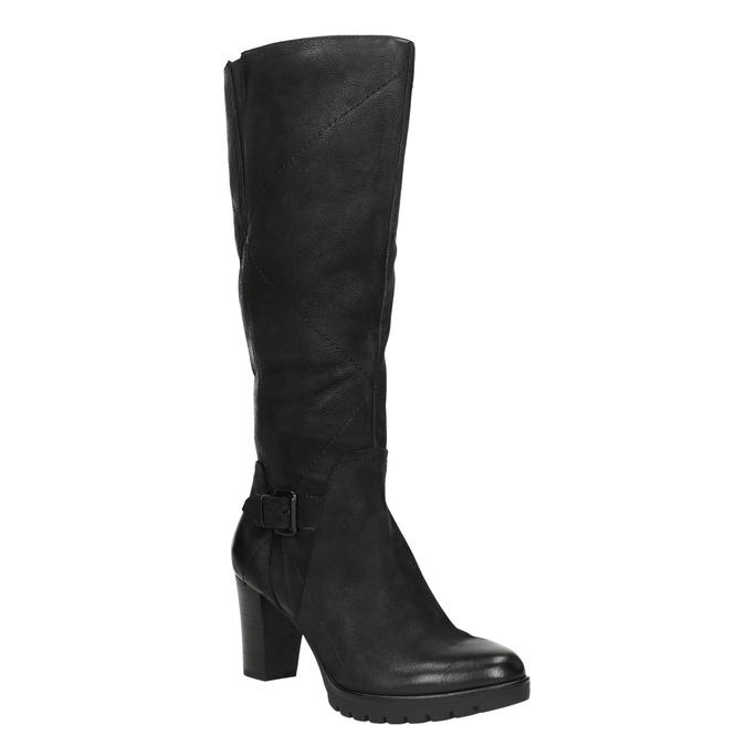 Women's high boots bata, black , 796-6601 - 13
