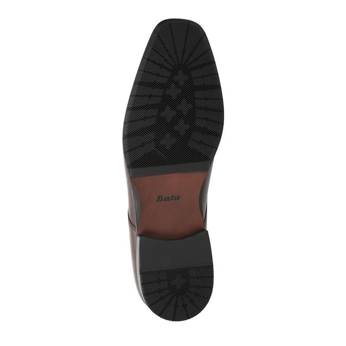 Men's leather Derby shoes bata, brown , 824-4752 - 26