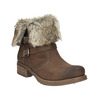 Ladies' ankle boots with fur bata, brown , 591-4601 - 13