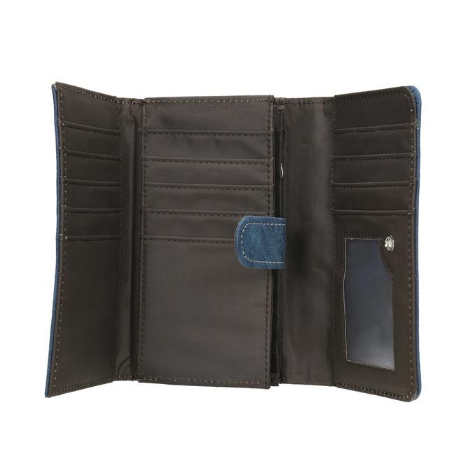 Ladies' blue purse bata, blue , 941-9153 - 15