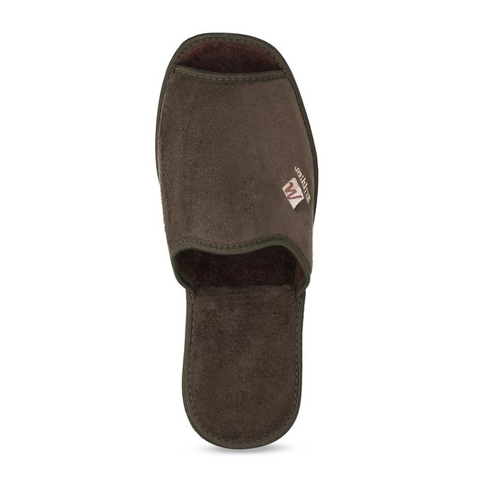 Men's slippers bata, brown , 879-4606 - 17