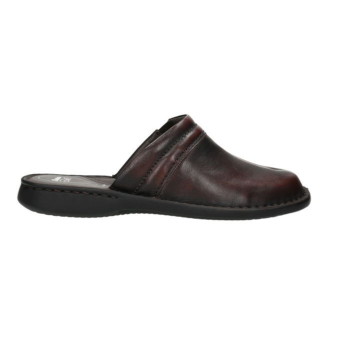Men's leather slippers comfit, brown , 874-4600 - 15