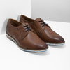Brown leather shoes with striped sole bata, brown , 826-4790 - 26