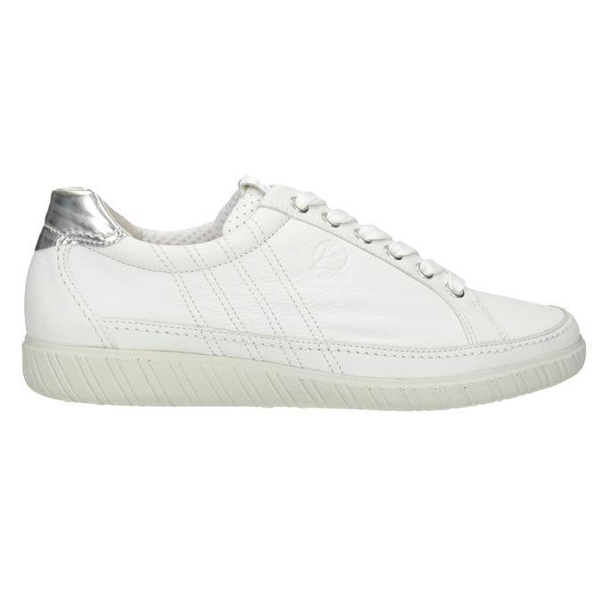 White leather sneakers gabor, white , 626-1204 - 26
