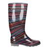 Children's wellington boots with stripes mini-b, black , 492-6112 - 15