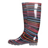 Children's wellington boots with stripes mini-b, black , 492-6112 - 19