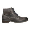 Leather ankle-cut shoes bata, gray , 894-2643 - 15