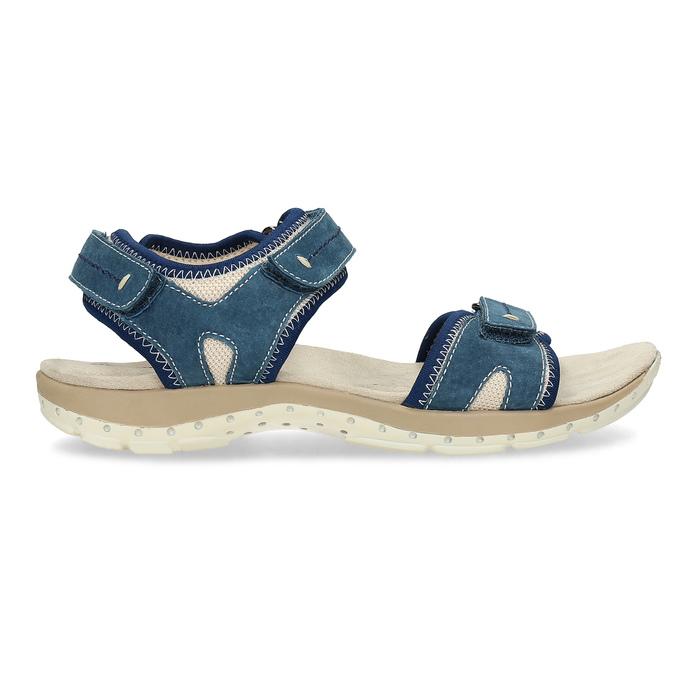 Ladies' leather sandals weinbrenner, blue , 566-9608 - 19