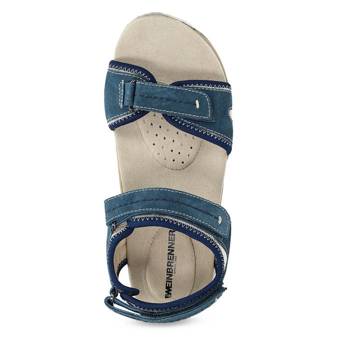 Ladies' leather sandals weinbrenner, blue , 566-9608 - 17