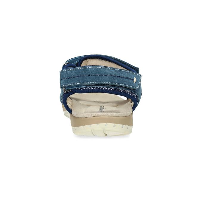Ladies' leather sandals weinbrenner, blue , 566-9608 - 15