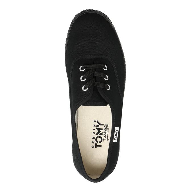 Ladies' black sneakers tomy-takkies, black , 589-6180 - 26