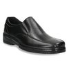 Men's leather moccasins pinosos, black , 814-6622 - 13