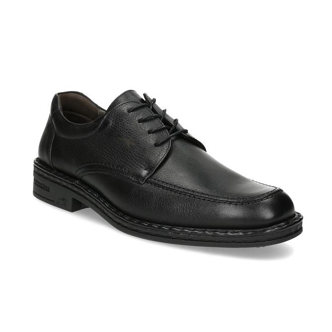 Black leather shoes fluchos, black , 824-6451 - 13