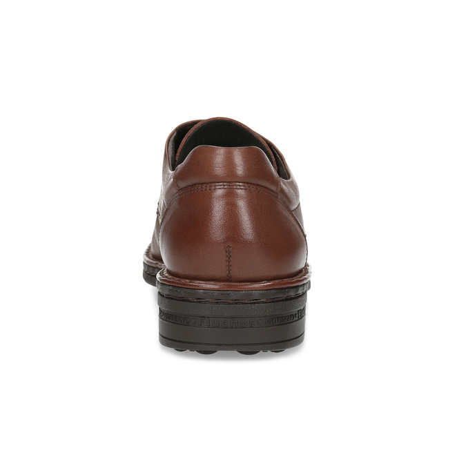 Brown leather dress shoes fluchos, brown , 824-3451 - 15