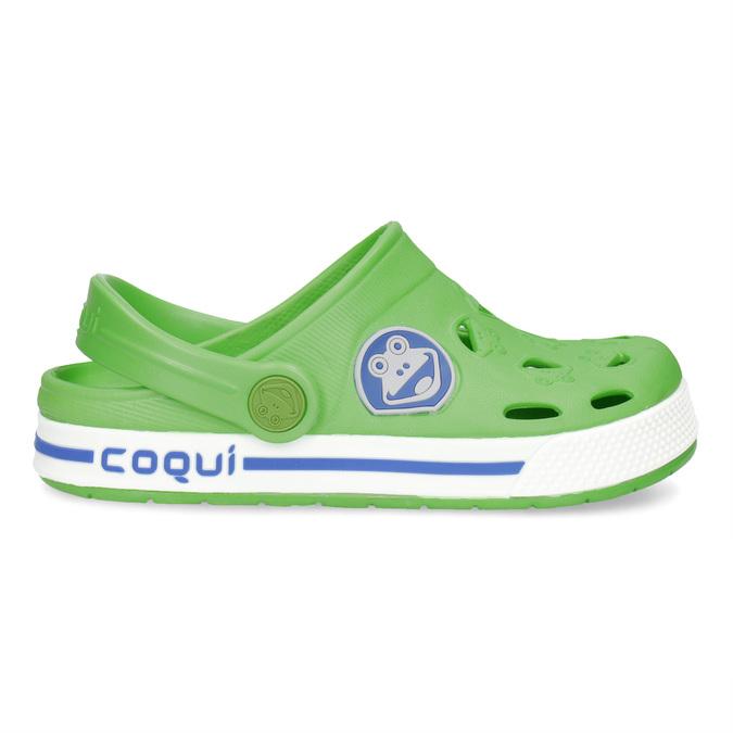 Children's green sandals coqui, green, 272-7603 - 19