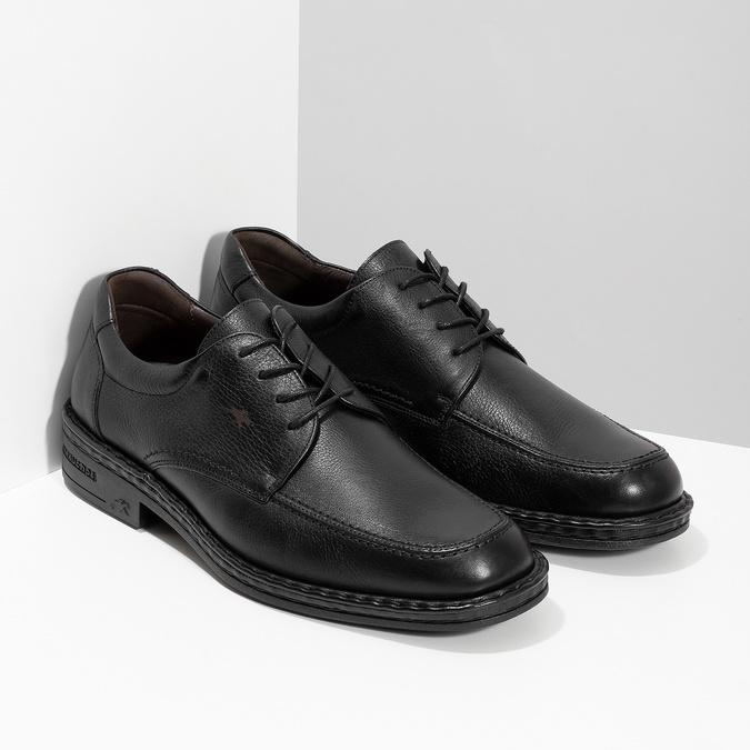 Black leather shoes fluchos, black , 824-6451 - 26