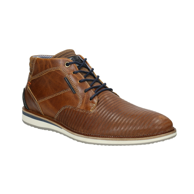 Casual leather ankle boots bata, brown , 826-3912 - 13