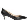Ladies' leather pumps bata, black , 624-6640 - 15
