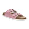 Ladies' leather sandals de-fonseca, pink , 573-5621 - 13