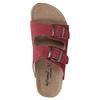 Ladies' leather sandals de-fonseca, red , 573-4621 - 19