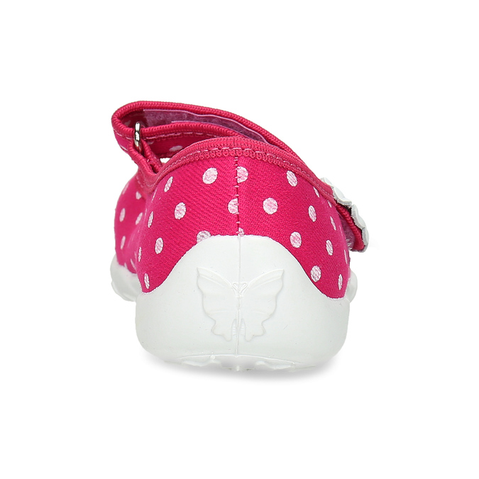 House slippers with polka dots mini-b, pink , 379-5214 - 15