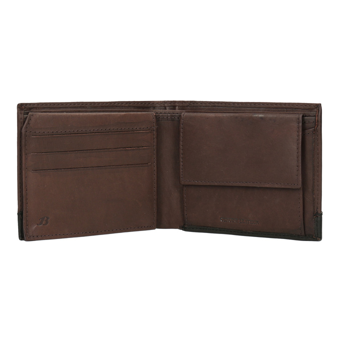 Men's leather wallet bata, brown , 944-8149 - 15