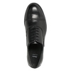 Ladies' leather shoes with stitching bata, black , 524-6661 - 26