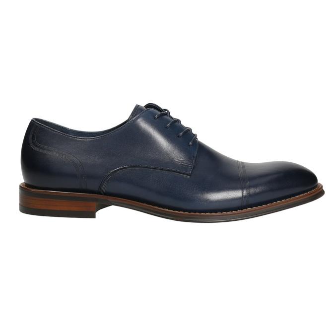 Casual leather shoes blue bata, blue , 826-9681 - 15