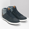 Blue high-top sneakers north-star, blue , 841-9608 - 26