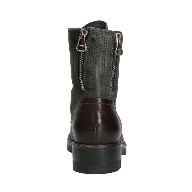 Ladies' Leather Boots bata, gray , 596-2616 - 16