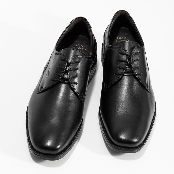 Men's Leather Derby Shoes fluchos, black , 824-6440 - 16