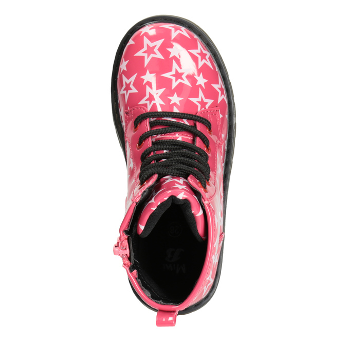 Girls' Lace-Up Boots with Stars mini-b, pink , 291-5167 - 15