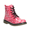 Girls' Lace-Up Boots with Stars mini-b, pink , 291-5167 - 13