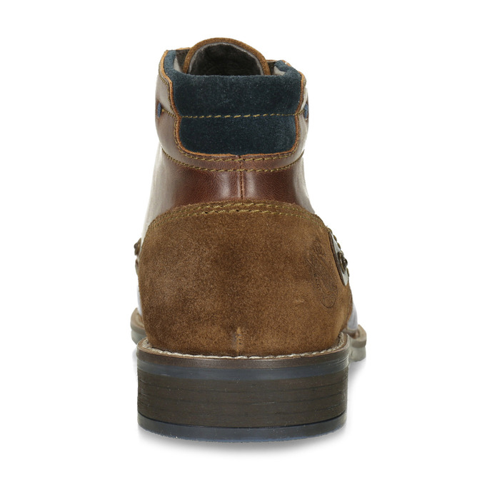 Men's leather ankle boots bata, brown , 826-3611 - 15